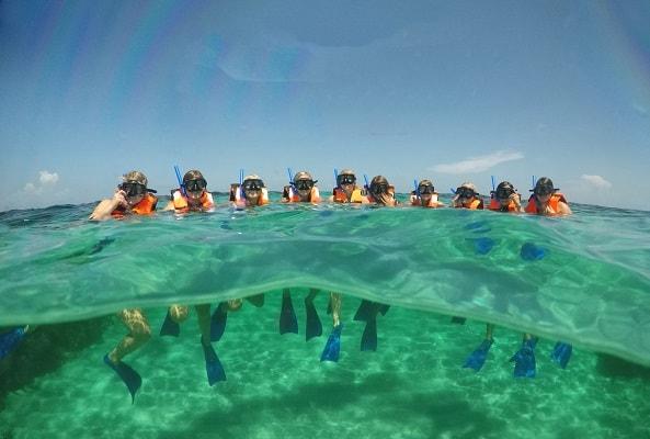 Snorkel en Arrecife de Puerto Morelos en Riviera Maya