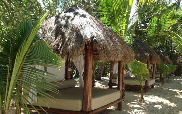 Snorkel y Club de Playa en Cozumel, si prefieres descansar en estas cómodas palapas