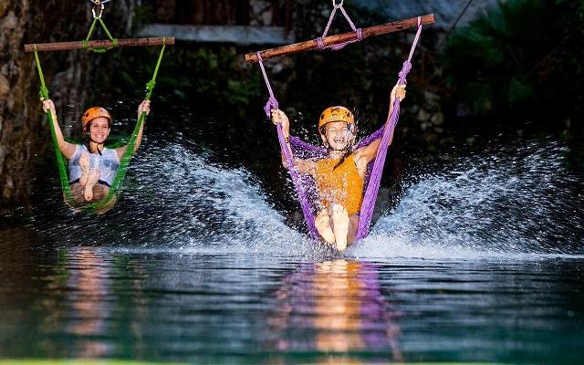 Tour a Parque Xplor Riviera Maya, Vuela por los aires y aterriza en el agua
