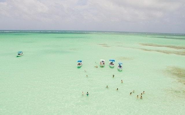 Tour a Sian Ka'an, bancos de arena para poder practicar snorkel