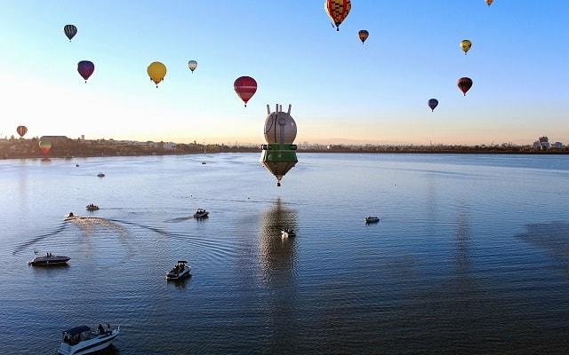 Tour Festival Internacional del Globo León, globos aerostáticos con figuras sorprendentes