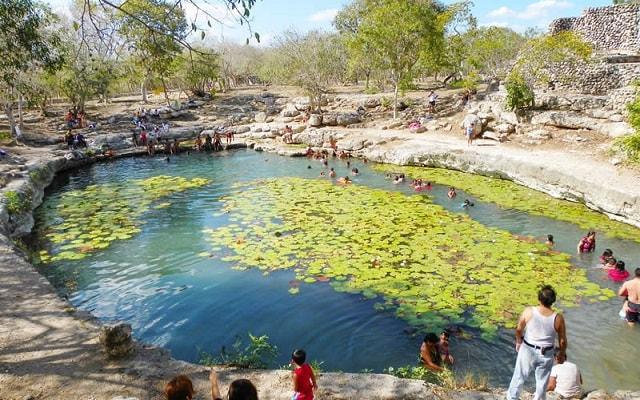 Tour por Dzibilchaltún, Puerto Progreso y Dzityá Yucatán , aguas cristalinas del Cenote Xlacab
