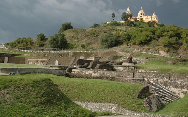 Una zona arqueológica que muestra la fusión de dos culturas