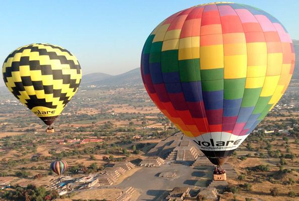 Vuelo en Globo Aerostático en las Pirámides de Teotihuacán