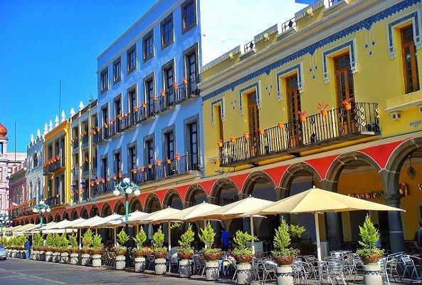 Tranvía en Puebla en Puebla
