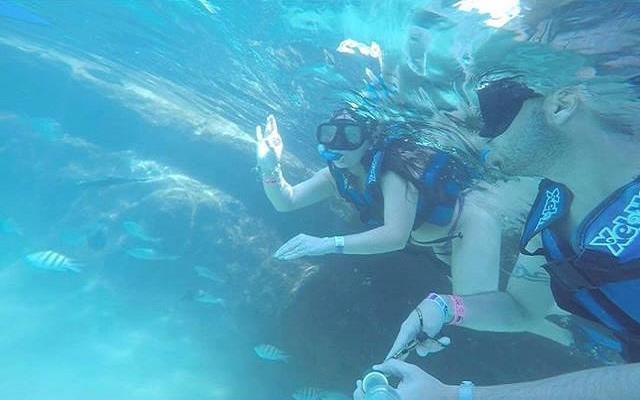 Practica snorkel y convive con la fauna local