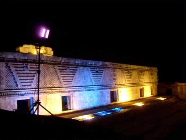 Show nocturno en Uxmal
