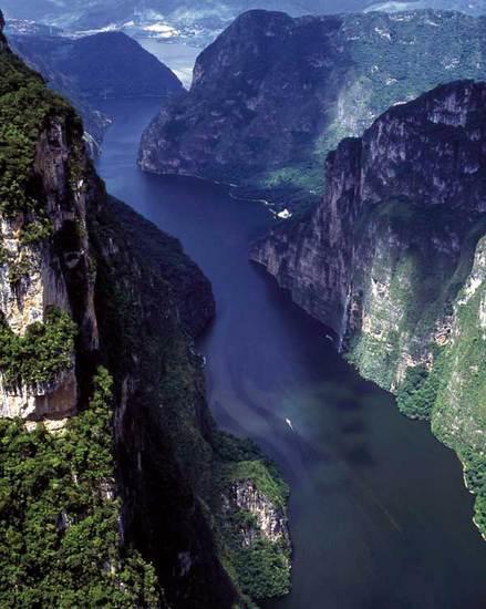 Vista aérea del Cañón del Sumidero
