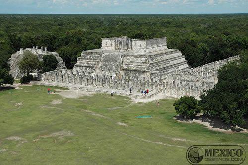 Vista aérea de las ruinas de Chichén Itzá