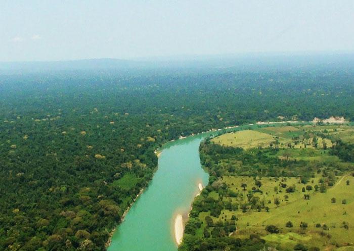 Vista aérea de la Selva Lacandona