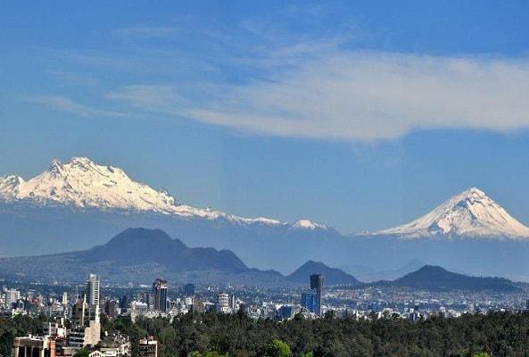 Volcán Popocatépetl y Paso de Cortés en Puebla
