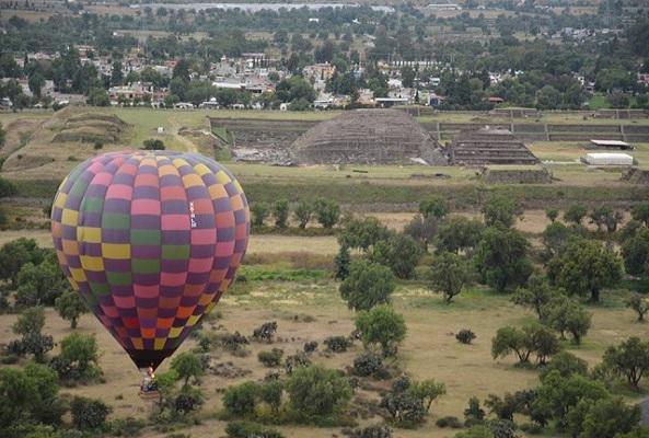 Vuelo en Globo en Teotihuacán en Ciudad de México